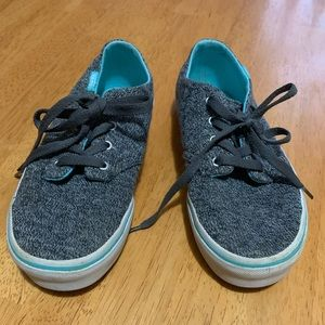 Girls Vans low top gray and teal